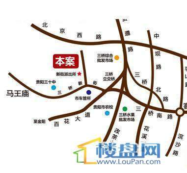 宏业康馨园交通图