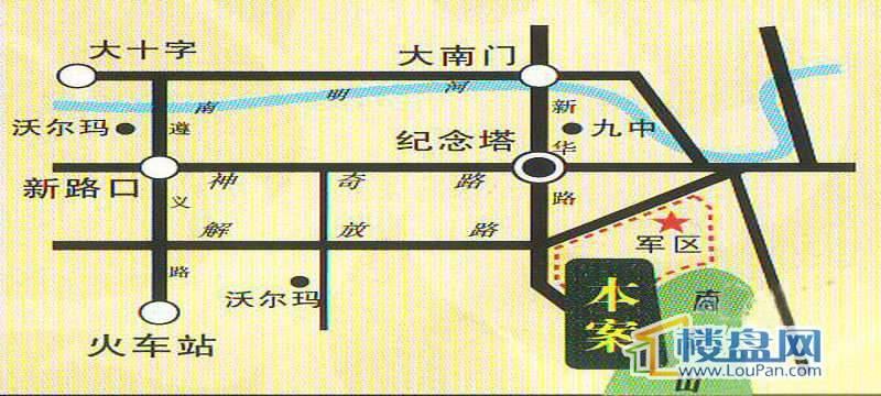 世纪南山交通图