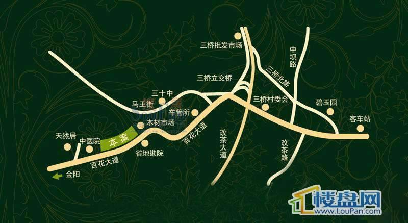 碧玉居交通图