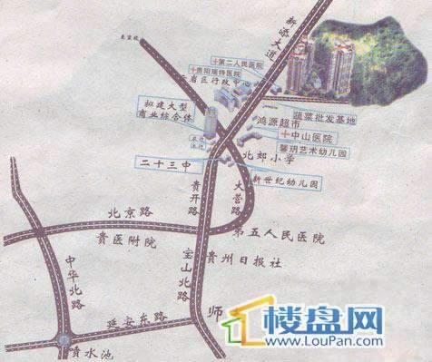 阳光金地交通图