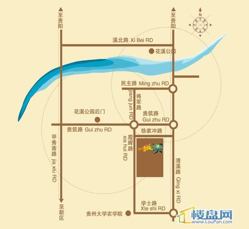 四季花溪交通图