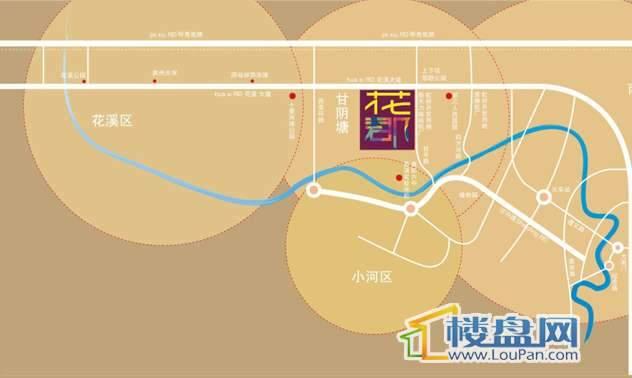 虹祥花郡交通图