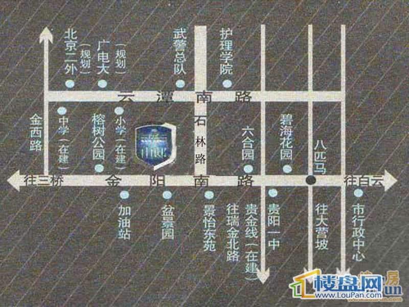 帝景传说山邸交通图