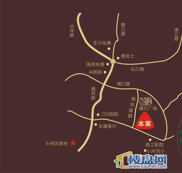 南山高地交通图