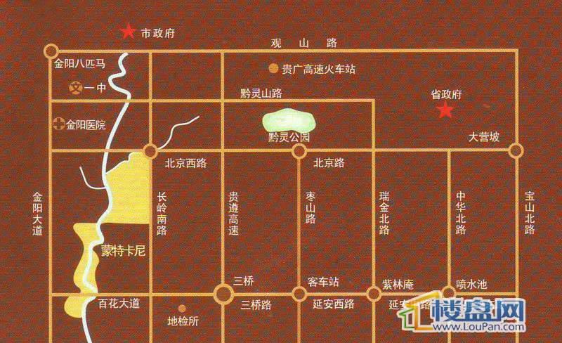 蒙特卡尼交通图