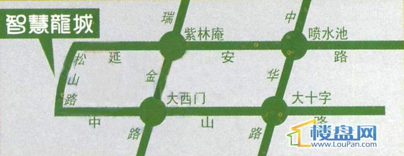 智慧龙城三期交通图