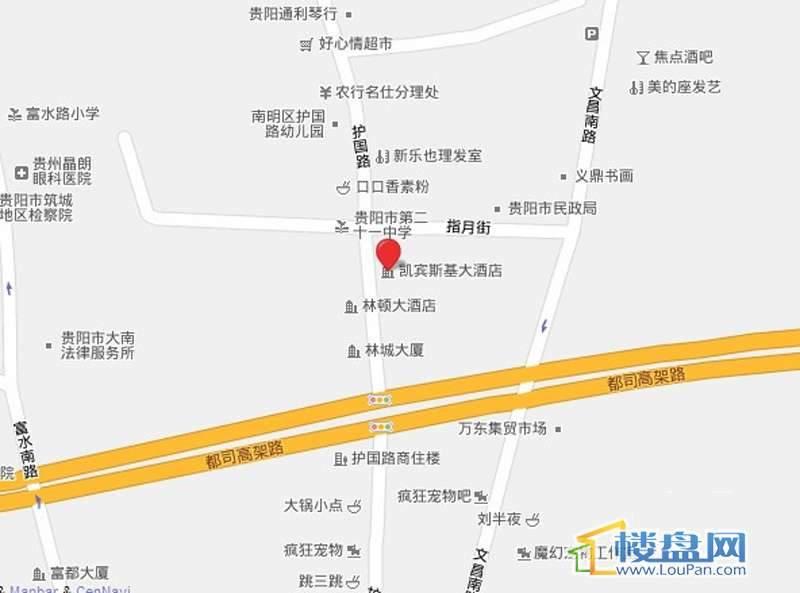 贵阳凯宾斯基大酒店交通图