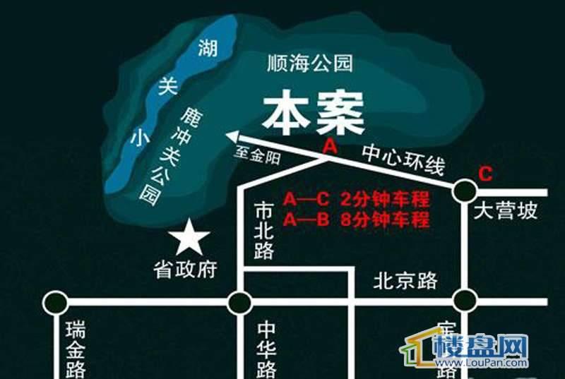 天誉城交通图