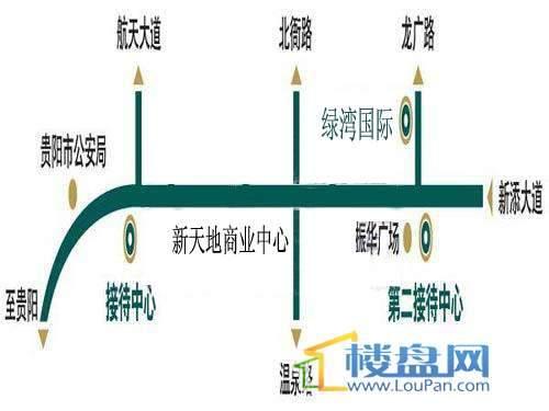 汤泉HOUSE交通图