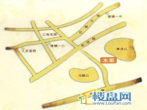 海韵峰景交通图