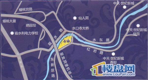春江滴翠交通图