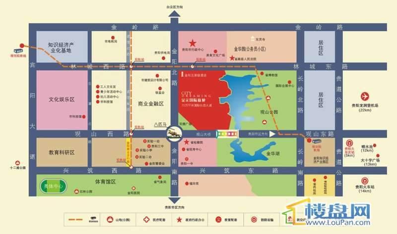 金元国际新城交通图