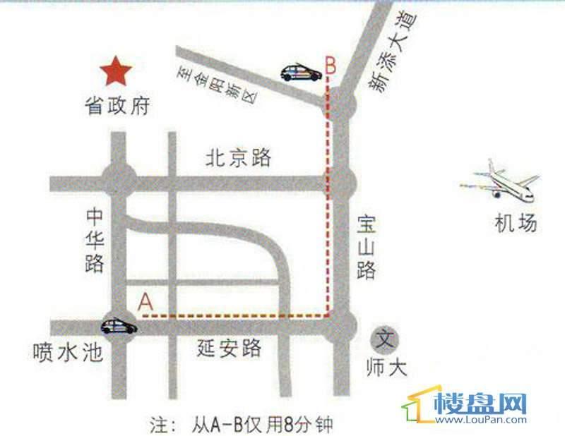 中天花园交通图