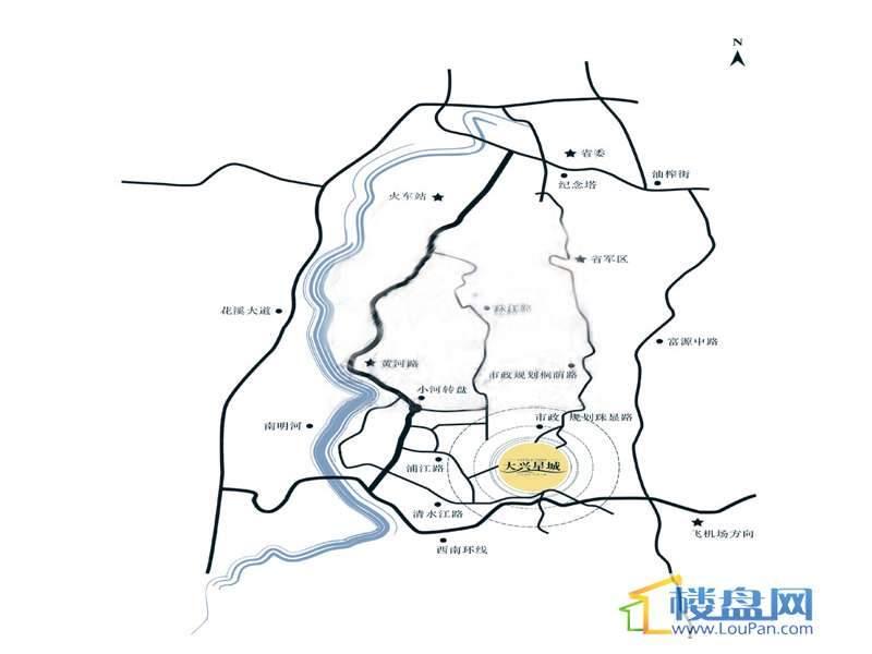 大兴星城交通图