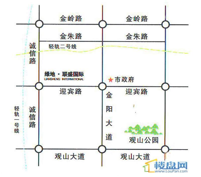 绿地联盛国际交通图