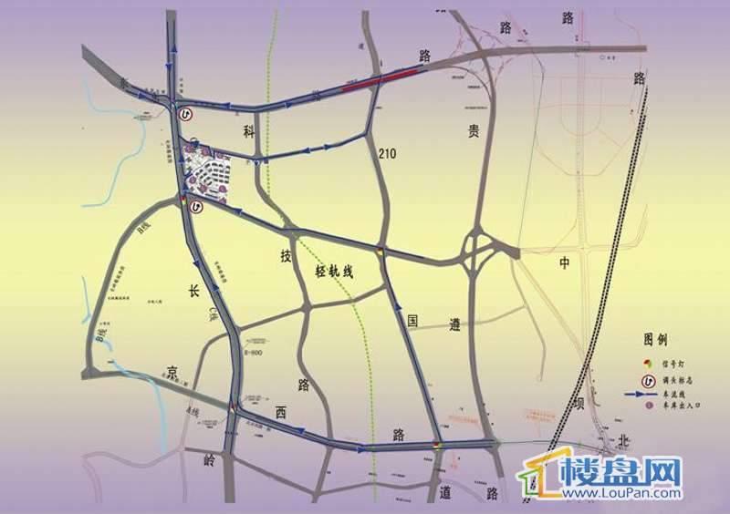 国电金海域交通图