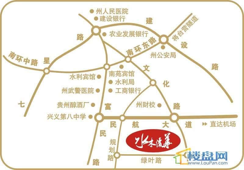 坤元水木清华交通图