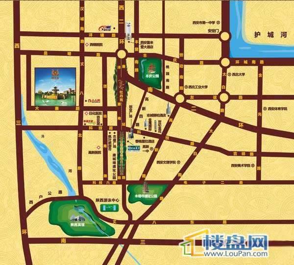 恒大城交通图