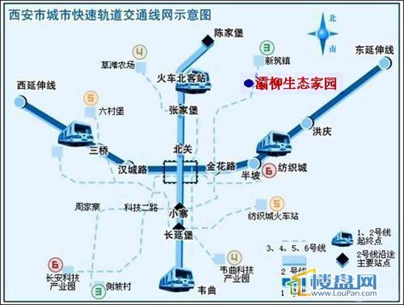 灞柳生态家园交通图