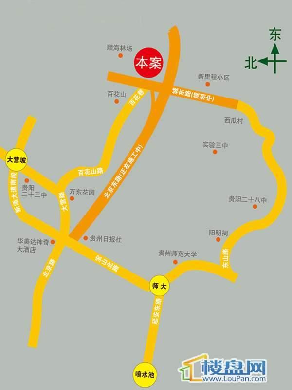 金狮小区二期顺海组团交通图