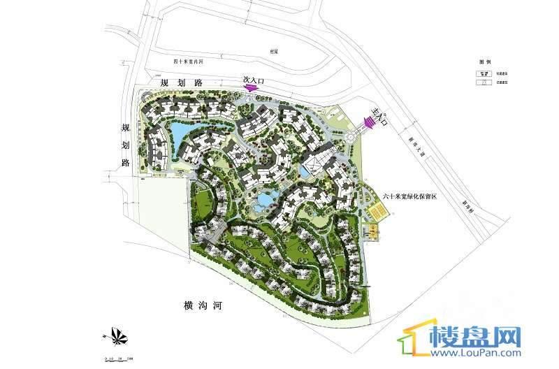 海口新世界花园度假村三期 交通图