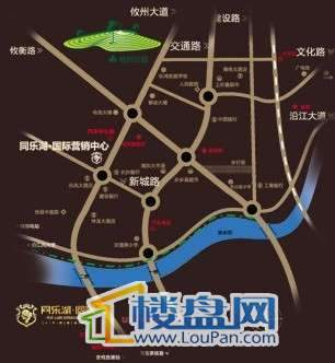 同乐湖交通图