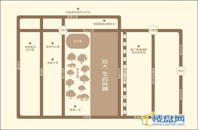 远大·生态风景II期栖景湾交通图