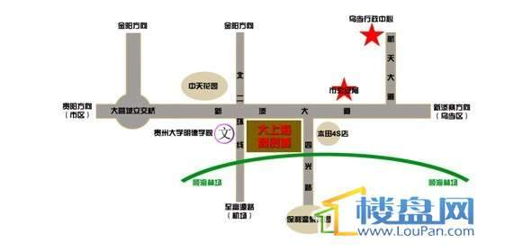 大上海商贸城交通图