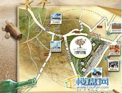 锴泽四季花城交通图