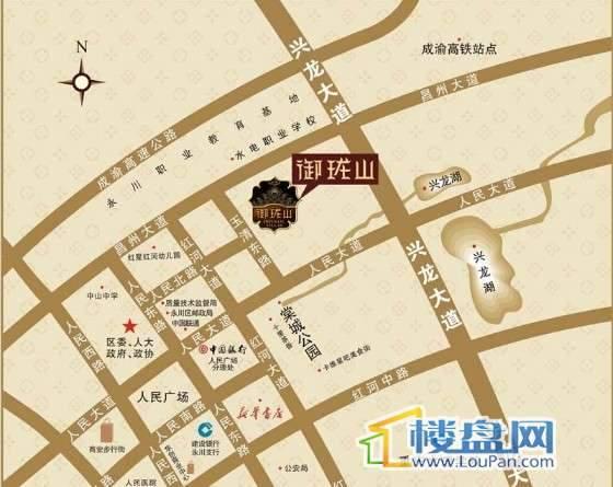 润锦御珑山交通图