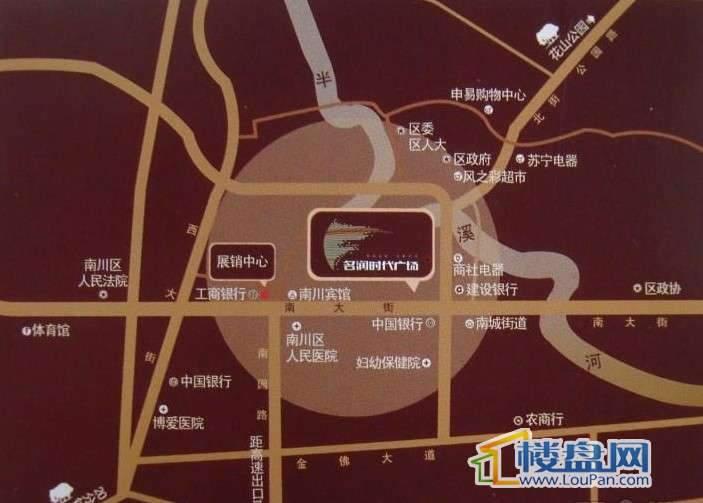 名润时代广场交通图