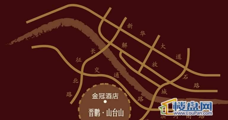 晋鹏山台山交通图