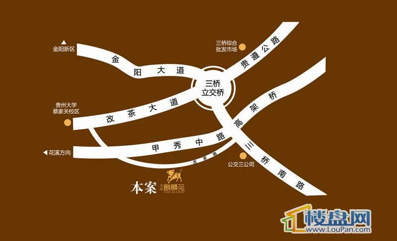 义信麒麟苑交通图