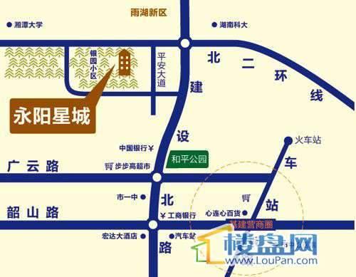 永阳星城交通图