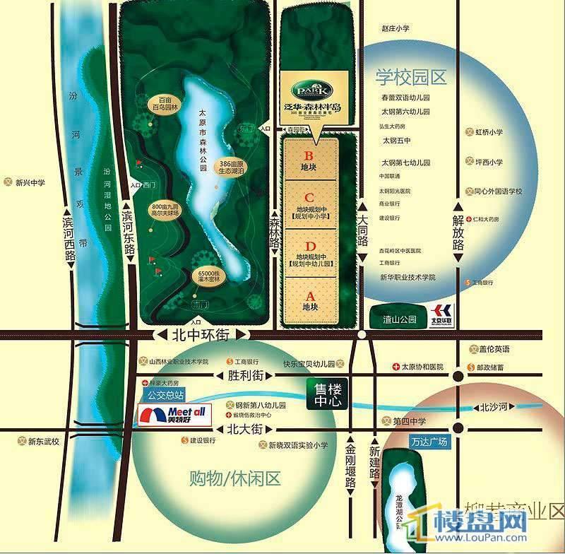 泛华·水岸森林交通图