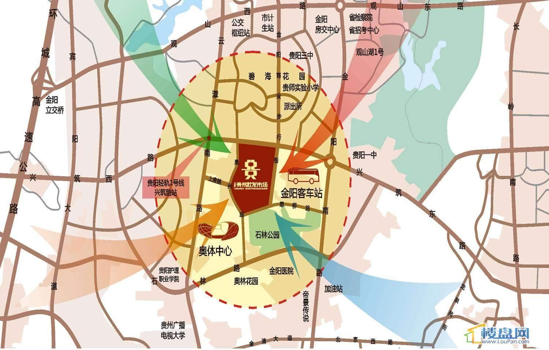 贵州批发市场交通图