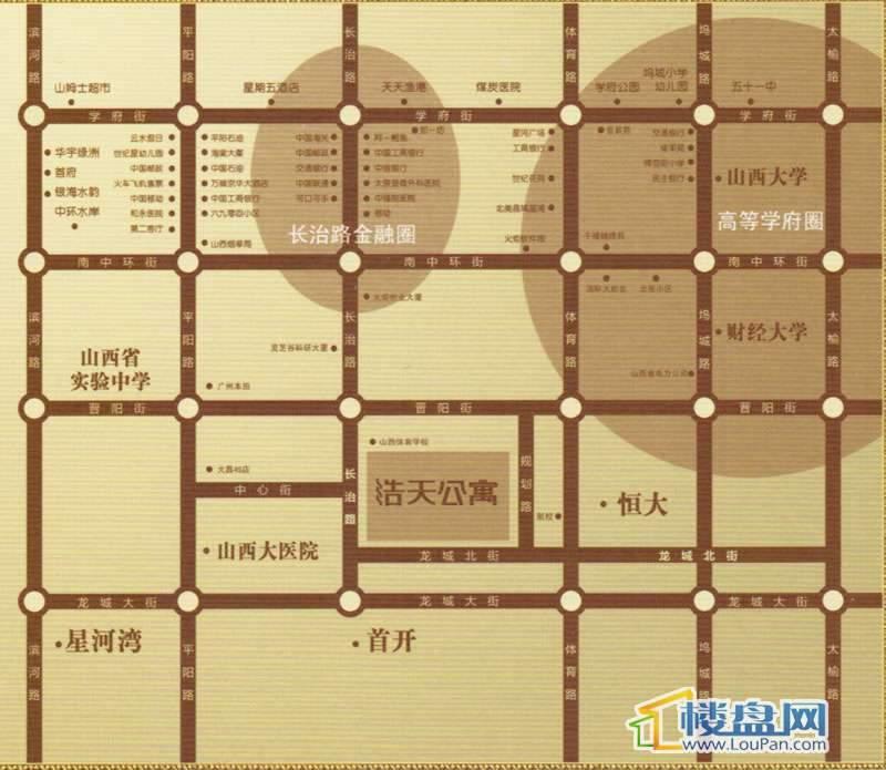 浩天公寓交通图