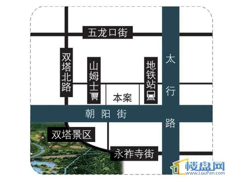 朝阳怡军苑交通图