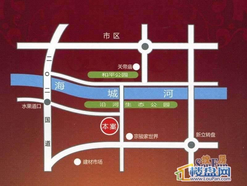 滨河盛仕广场交通图