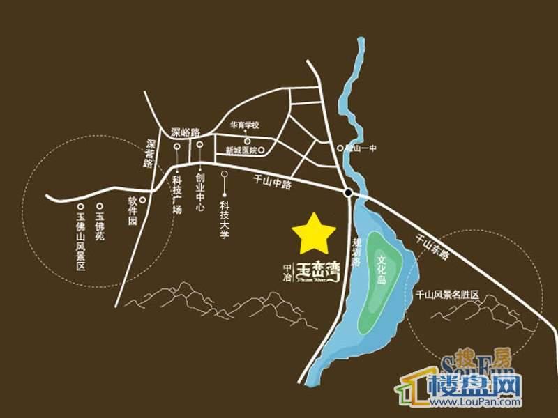 中冶玉峦湾交通图