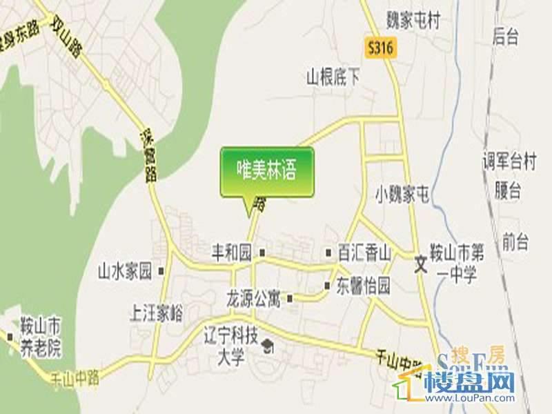 唯美林语交通图