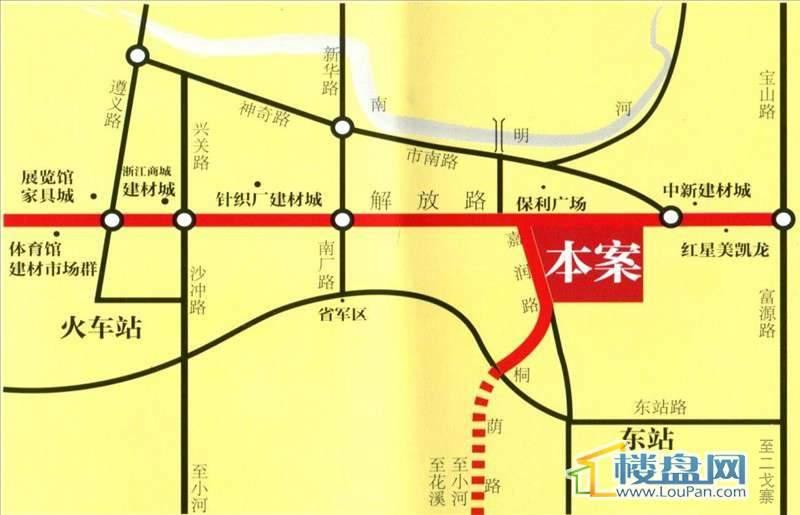 金海洋美居饰品广场交通图