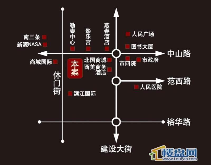 鼎泰中心商务 交通图