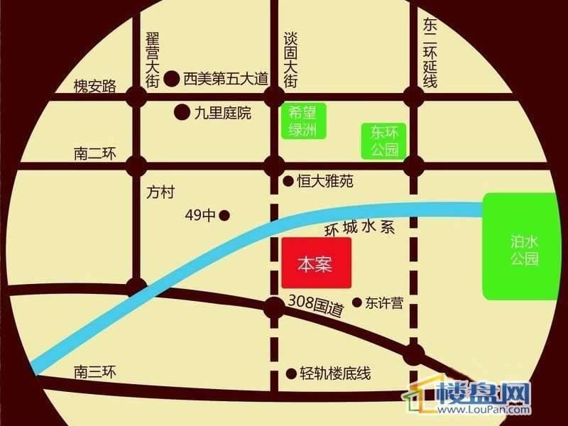 东龙府邸交通图