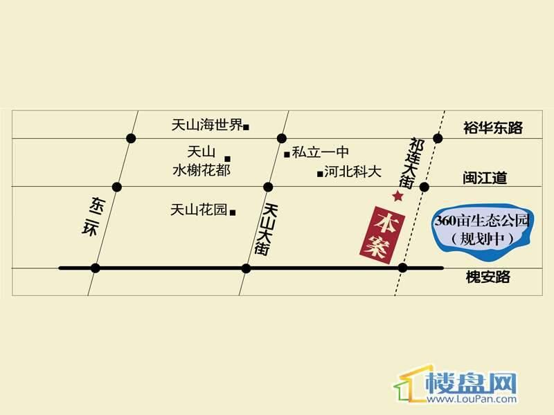 富源城国礼 交通图