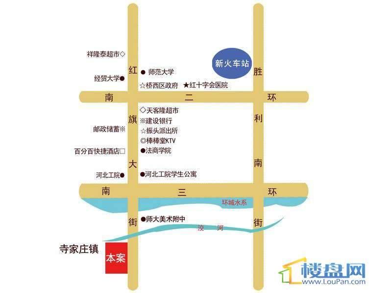 城市傲居交通图