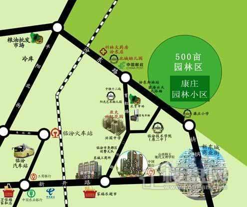 康庄园林小区交通图