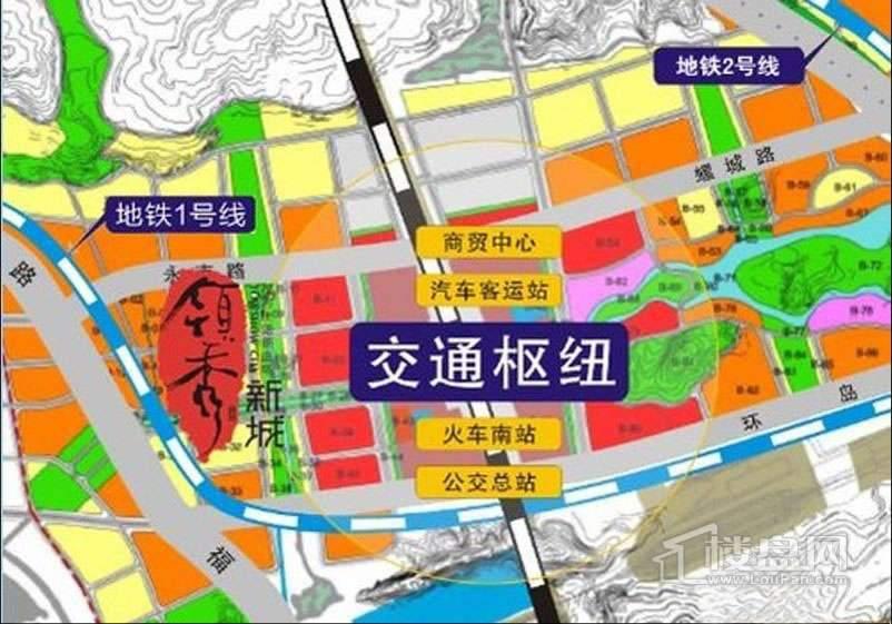 领秀新城交通图