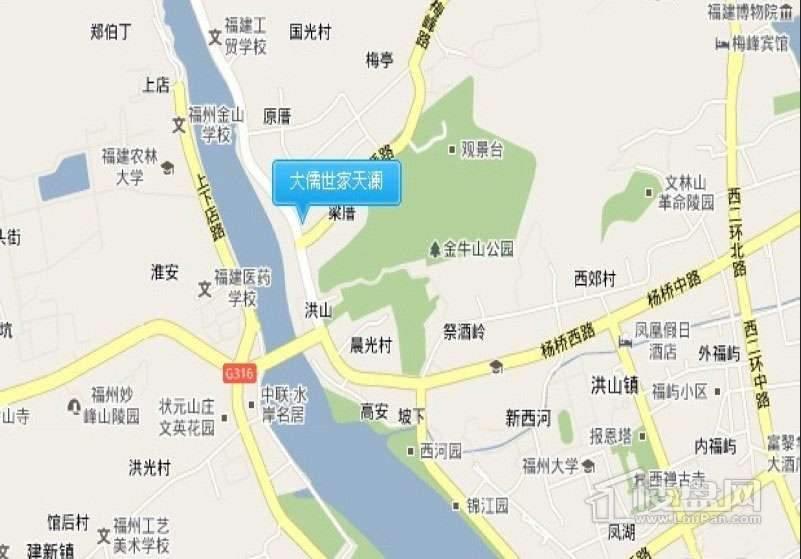 大儒世家天澜交通图