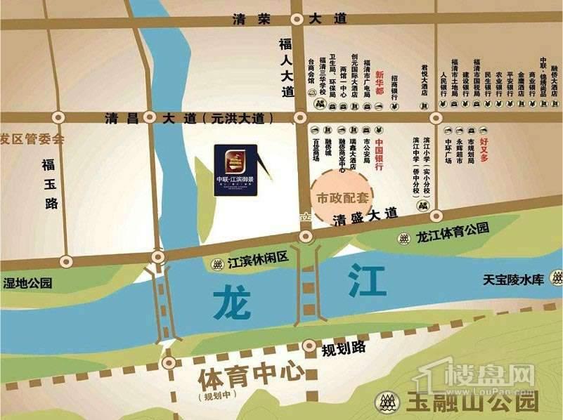 中联江滨御景交通图